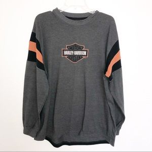 Harley Davidson Long Sleeve Pullover Sweater Tee